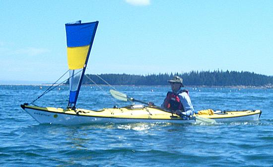 Charlie Day demonstrates kayak sailing