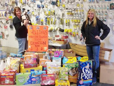 Vicki Siebert and Kim Yurchick have organized a pet food drive
