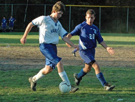 Hayden Ciomei dribbles ahead