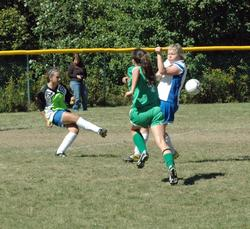 Haley Brewer turns it back in a game against Schenck.