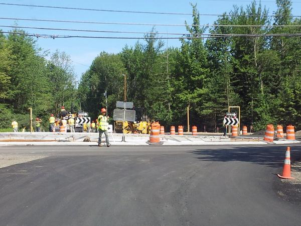 Roundabout construction in Blue Hill to be complete by Monday, August 26