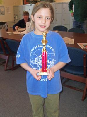 Rylee Eaton, second in K-3 championship