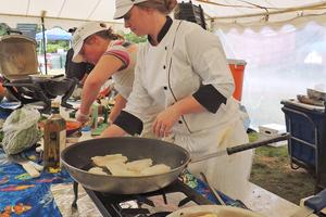 Aragosta chef Devin Finigan at the Common Ground Fair
