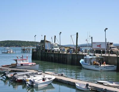Stonington harbor in July of 2012