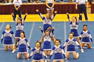 DISHS cheerleaders cheer