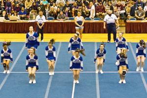 DISHS cheerleaders jump