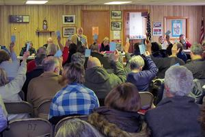 Residents of Deer Isle participate