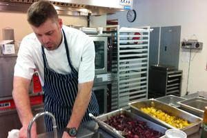 Colorado chef prepares lunch at DISES