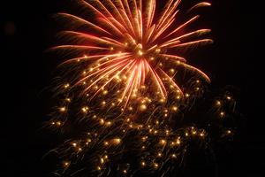 Fireworks in Stonington for Winterfest