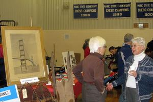 Claudette Kydd and Tinker Crouch at Deer Isle's Winterfest