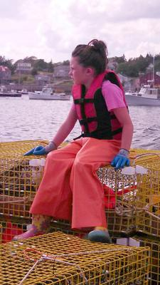 Young lobsterman Natalie Zanke