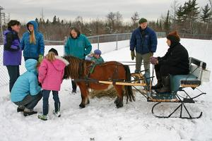 Carol Collins offers sleigh rides