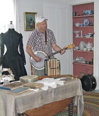 Bruce Greenlaw at the Deer Isle-Stonington Historical Society