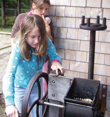 Cider pressing at Adams School
