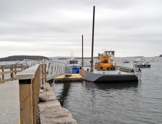 Easy access at Colwell Ramp in Stonington