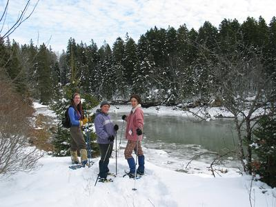 Snowshoeing at Davis Farm