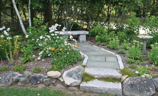 Sunset Village Green Memorial Garden on Route 15A in Deer Isle