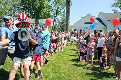 A tug of war on the Castine town commons is a July 4 tradition.