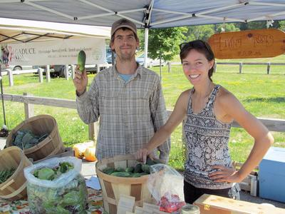 Living Roots Farm at the Deer Isle Farmers Market