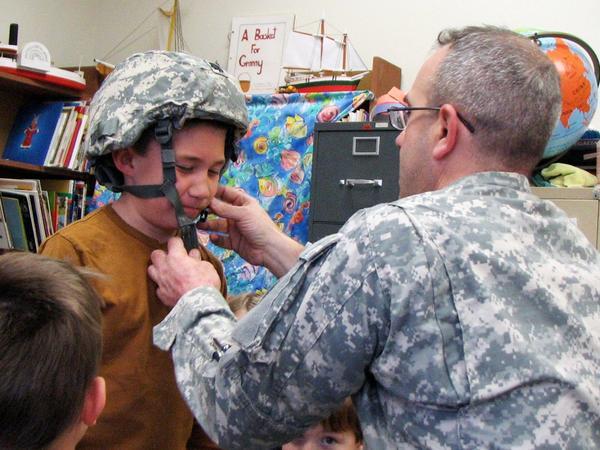 Brooksville teacher shares military equipment