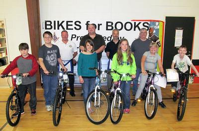 Masons award reading with bikes