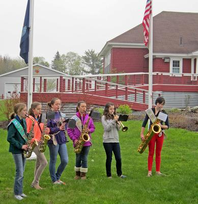 Brooklin scouts perform the national anthem