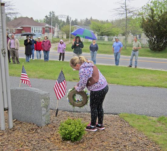 Honoring the veterans memorial in Brooklin