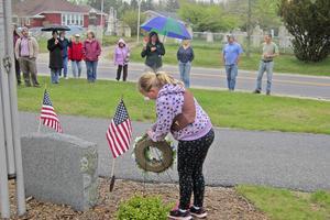 Honoring the veterans memorial in Brooklin