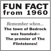 Fun fact from 1960 - Flintstones