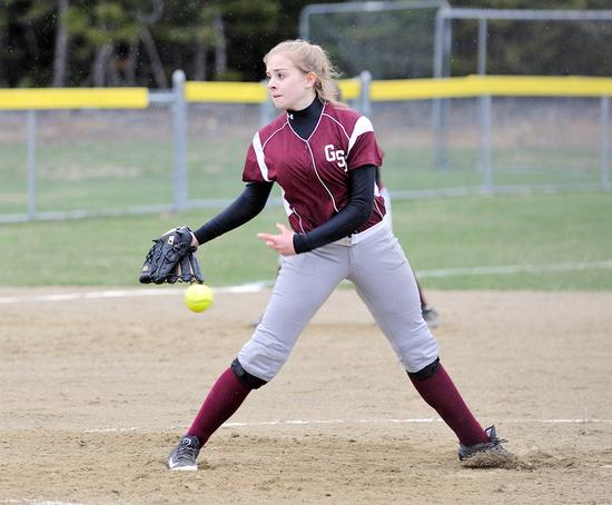 George Stevens Academy softball player Olivia Stevenson