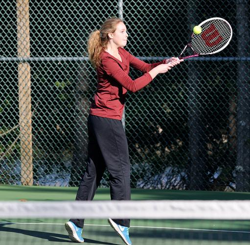 George Stevens Academy doubles player Abigail Frost