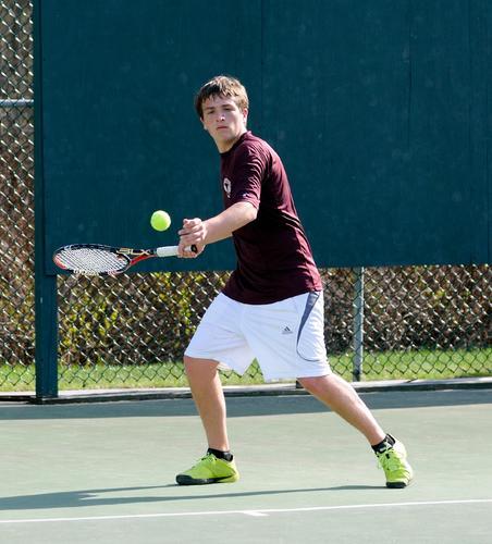 George Stevens Academy singles player Alex Heilner