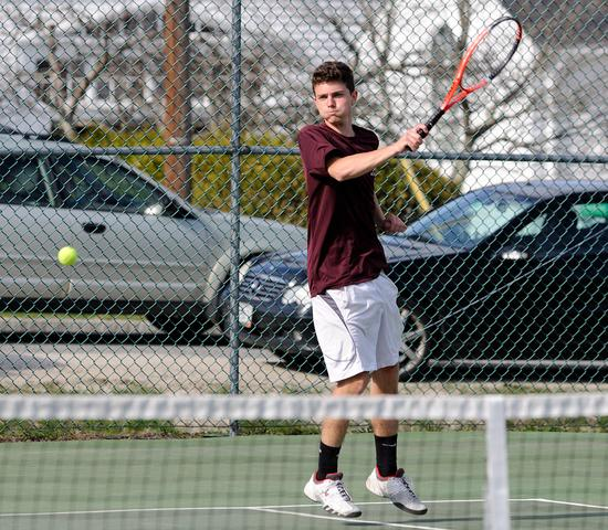 George Stevens Academy doubles player Beowulf Urban