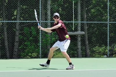 The Eagle's Tate Yoder plays second singles
