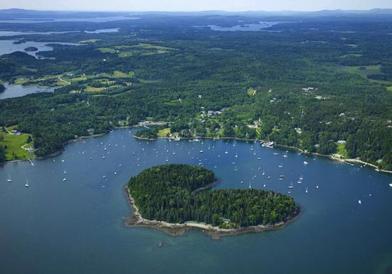 Harbor Island, Maine, is for sale