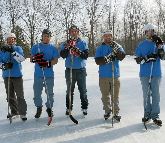 Peninsula Pond Hockey Tournament in Blue Hill