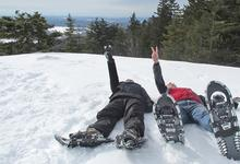 Snowshoeing on Blue Hill Mountain in Maine