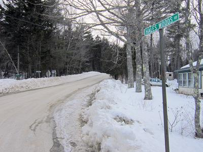 Hales Wood Road in Brooklin, Maine, reduces speed limit.