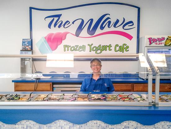The Wave frozen yogurt shop opens in Blue Hill