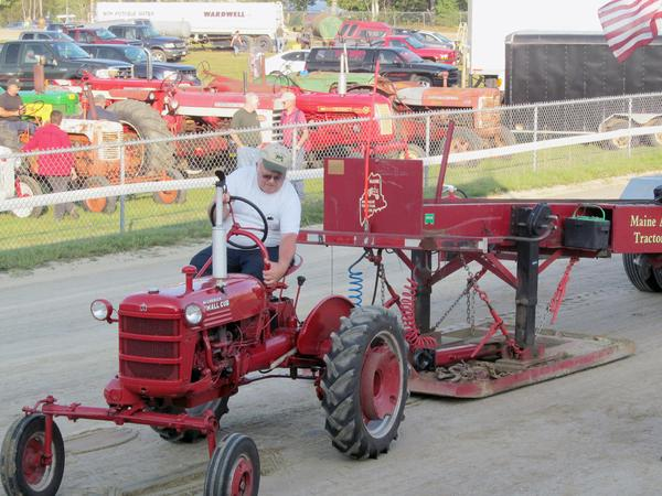Boyd Stevens' tractor at the Blue Hill Fair 2013
