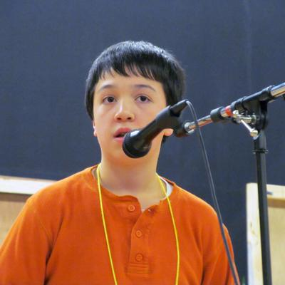 Brandon Aponte won the Hancock County Spelling Bee