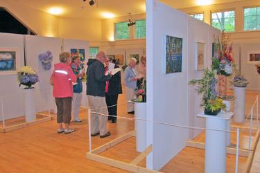 Visitors at Blue Hill's Art in Bloom
