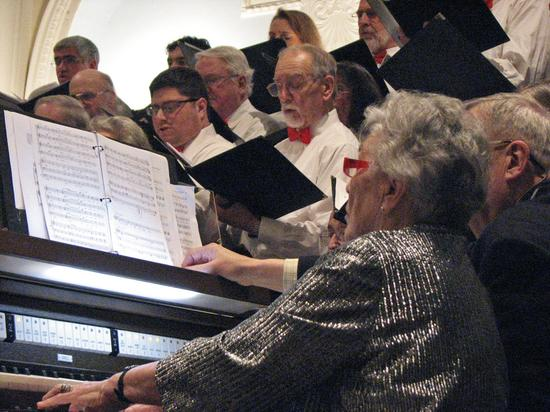 Mary Cheyney Gould with the Bagaduce Chorale