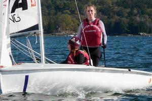 Cecily Page and Clover Slagle in the Becton Cup on October 13