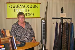 Christine Leith at the fifth annual Blue Hill Fine Craft show