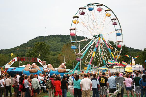 The Midway at the Blue Hill Fair