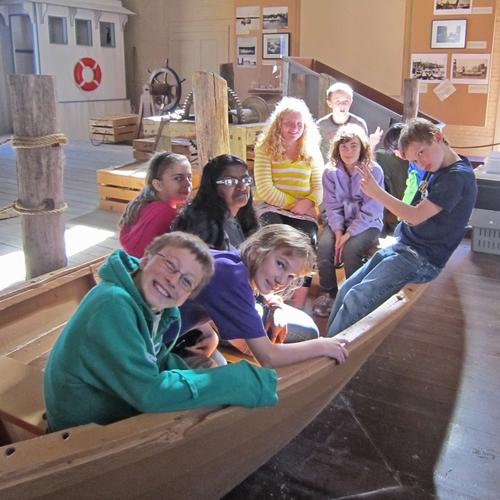 Brooklin School students trip to the Penobscot Marine Museum