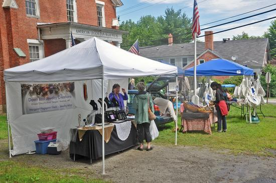 Vendors at the Blue Hill Blueberry festival