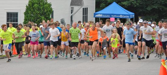 The start of the Blue Hill Memorial Hopsital Fun Run
