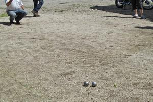 Andre Strong playing Boules